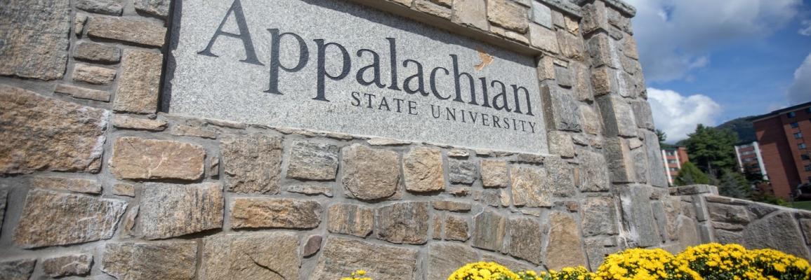App State campus sign